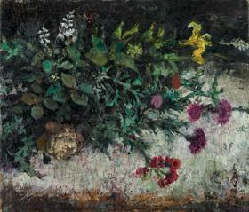 須田国太郎《夏の花》1954(昭和29)年 京都国立近代美術館蔵