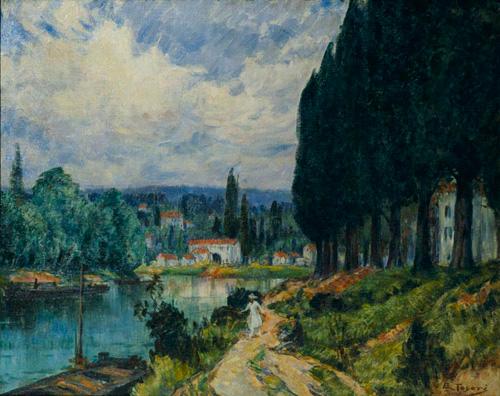 都鳥英喜《セイヌ河》1919年