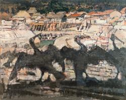 須田国太郎《鵜》1952(昭和27)年 京都国立近代美術館蔵