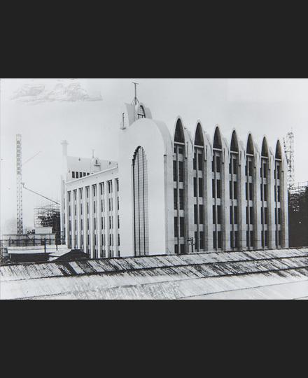 山田守 東京中央電信局 撮影:1925(大正14)年 郵政博物館
