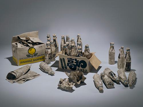 三島喜美代《パッケージ 78》 1977-78年