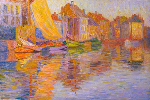 太田喜二郎《水辺の街》1911-12年頃