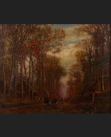 小山正太郎 《秋景図》 1888 年 個人蔵