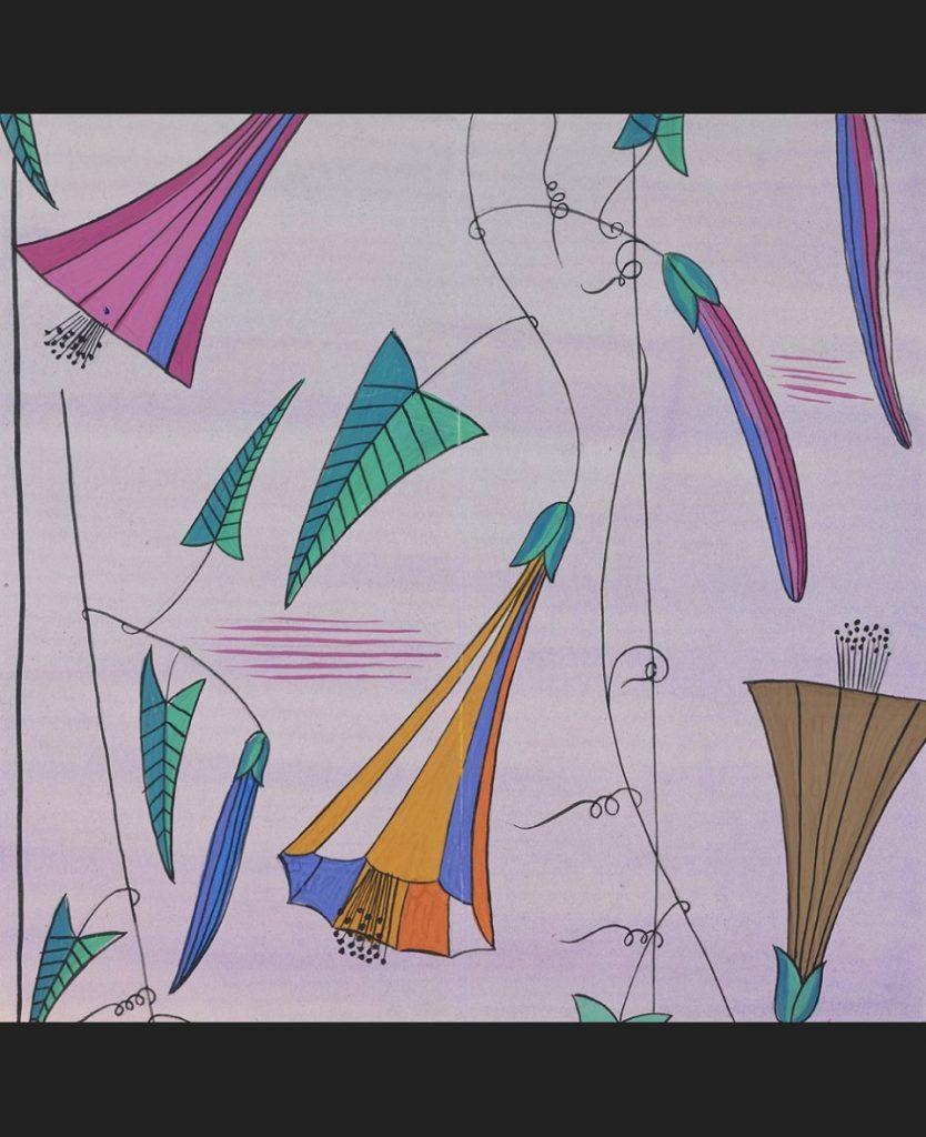 《ウィーン工房テキスタイル・デザイン:夏の風》1922年